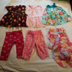 Gymboree lot of 6-12 months girls 7 pieces